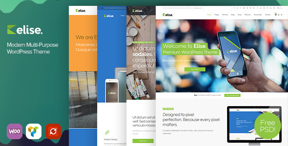 ThemeForest Elise Modern Multi-Purpose WordPress Theme 10768925