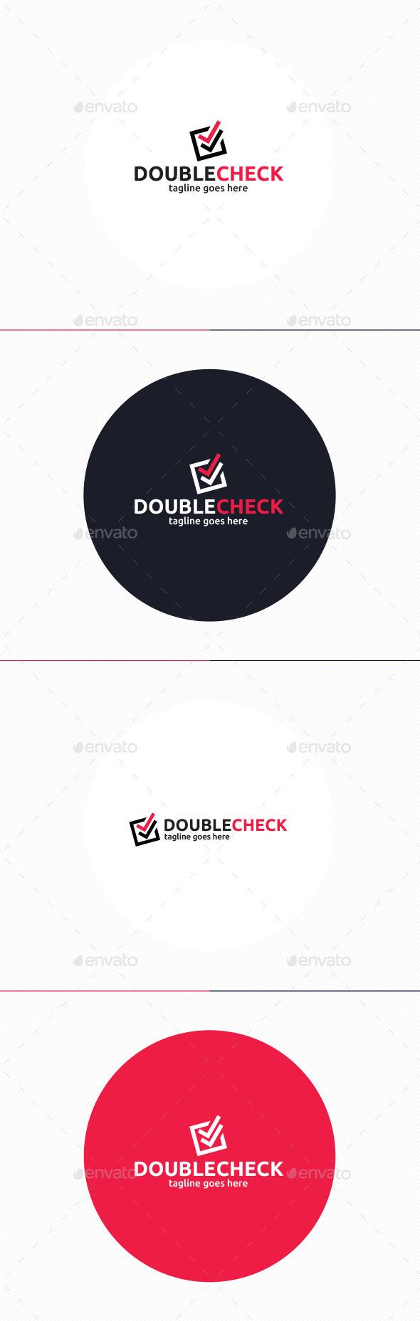 GraphicRiver Double Check Logo 10892631