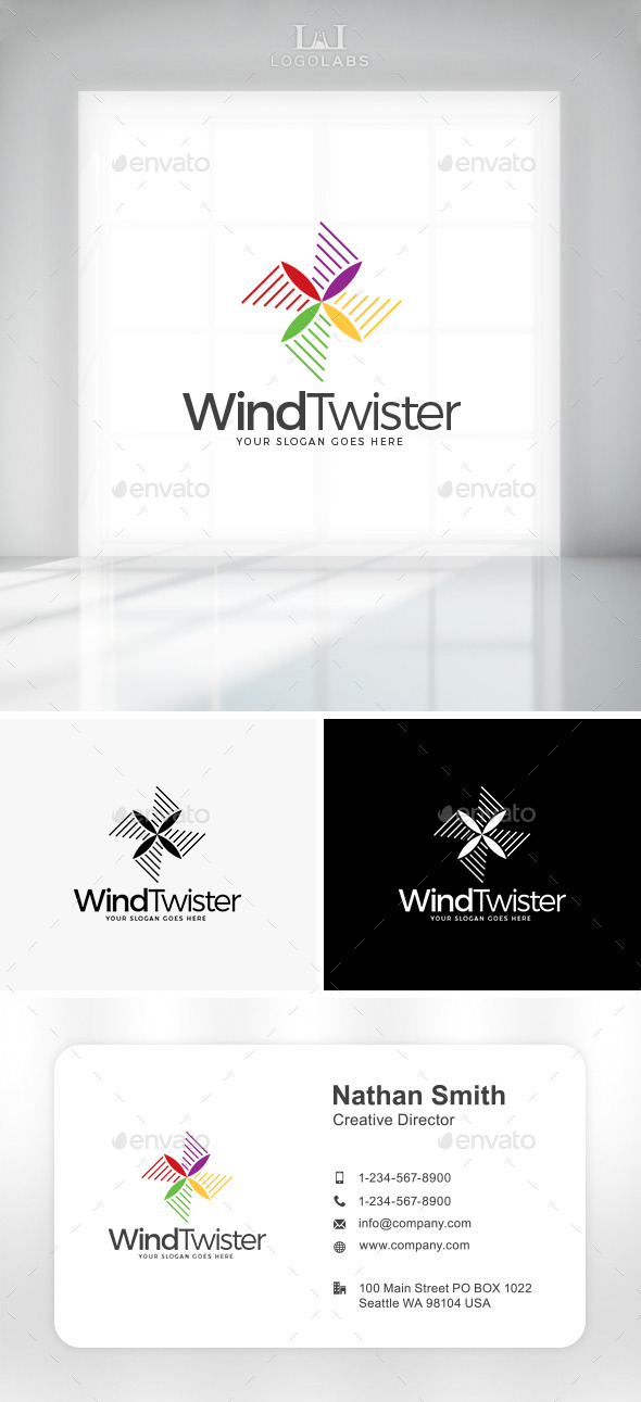 GraphicRiver Wind Twister Logo 10892650