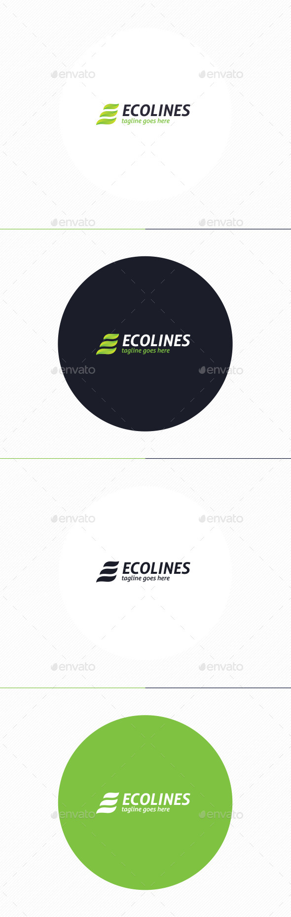 GraphicRiver Eco Lines Logo Letter E 10892718