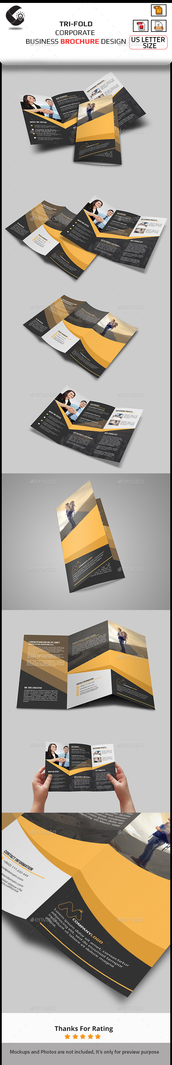 GraphicRiver Tri-Fold Brochure- Multipurpose 10892948