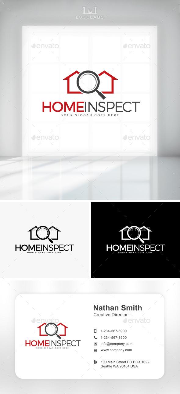 GraphicRiver Home Inspect Logo 10805835