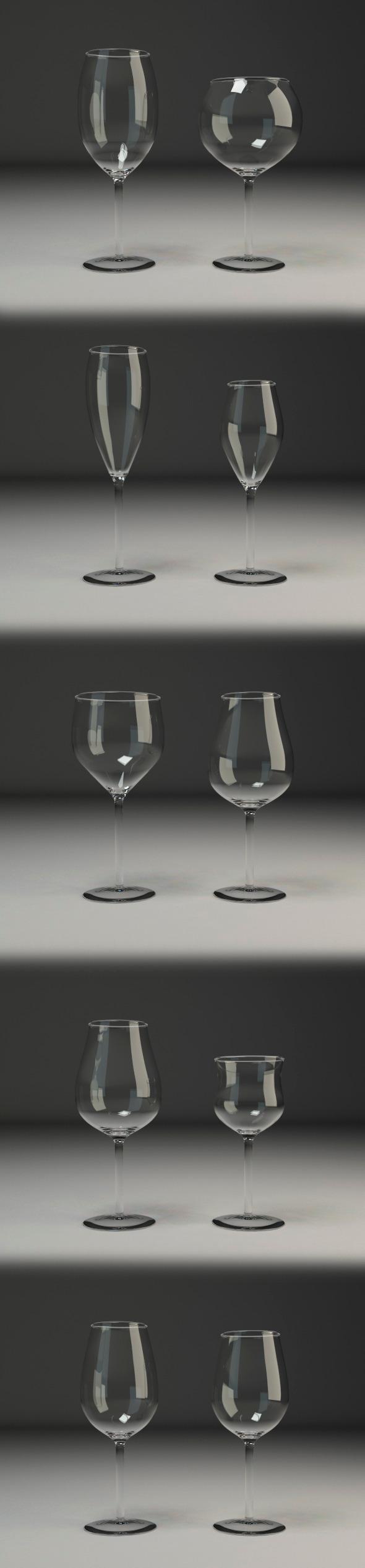 3DOcean Wine glasses V1 10893059