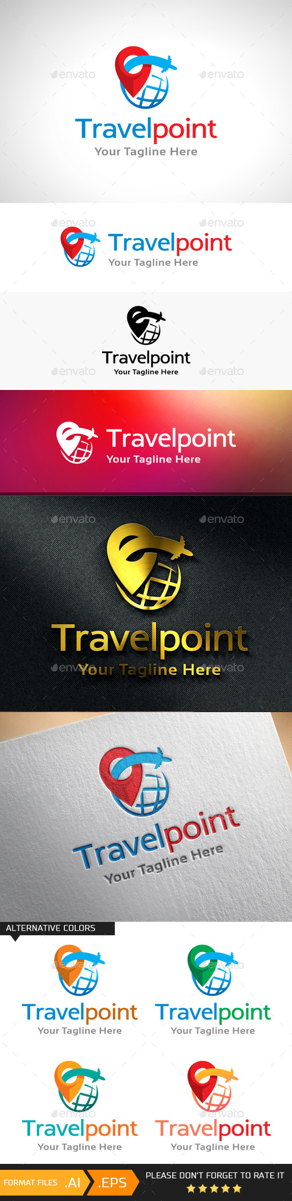 GraphicRiver Travel Point Logo Template 10893117