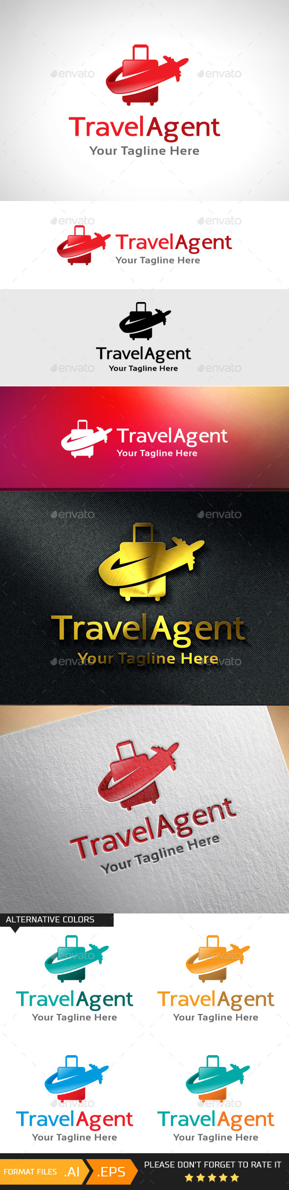 GraphicRiver Travel Agent Logo Template 10893189