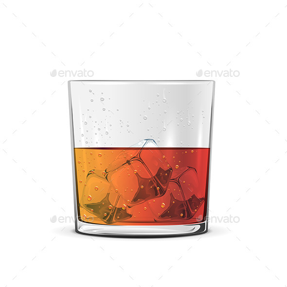 GraphicRiver Glass of Whiskey 10893381