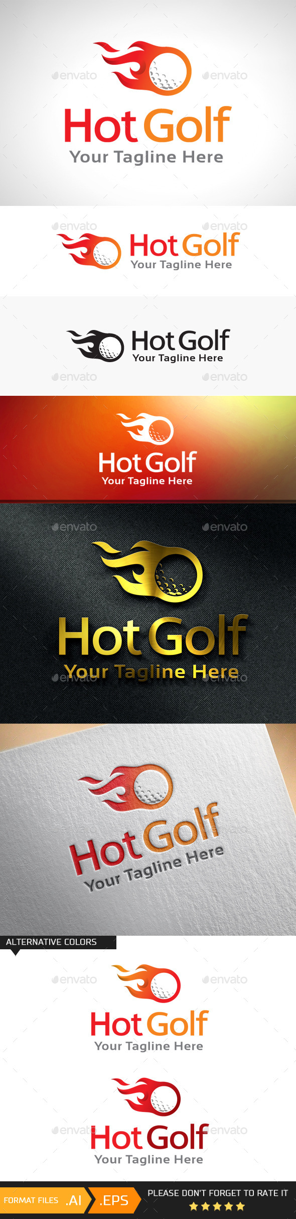GraphicRiver Hot Golf Logo Template 10893382