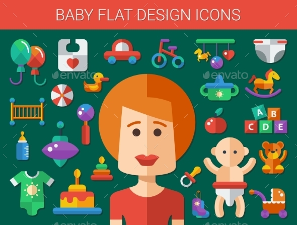 GraphicRiver Baby Elements 10893455