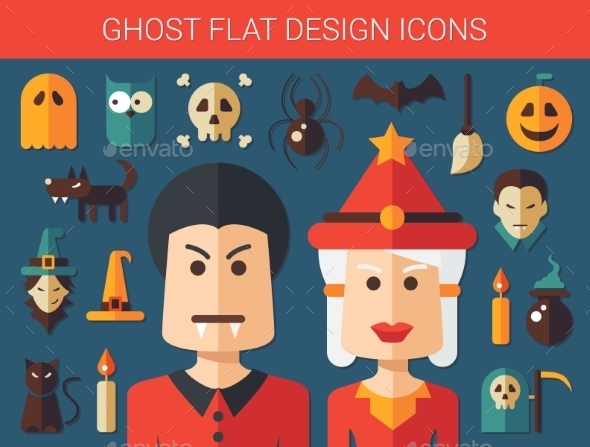 GraphicRiver Ghost Icons 10893510