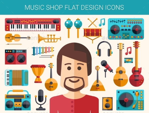 GraphicRiver Music Shop Elements 10893512