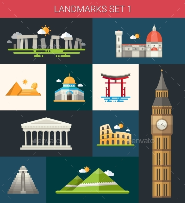 GraphicRiver Landmarks 10893516