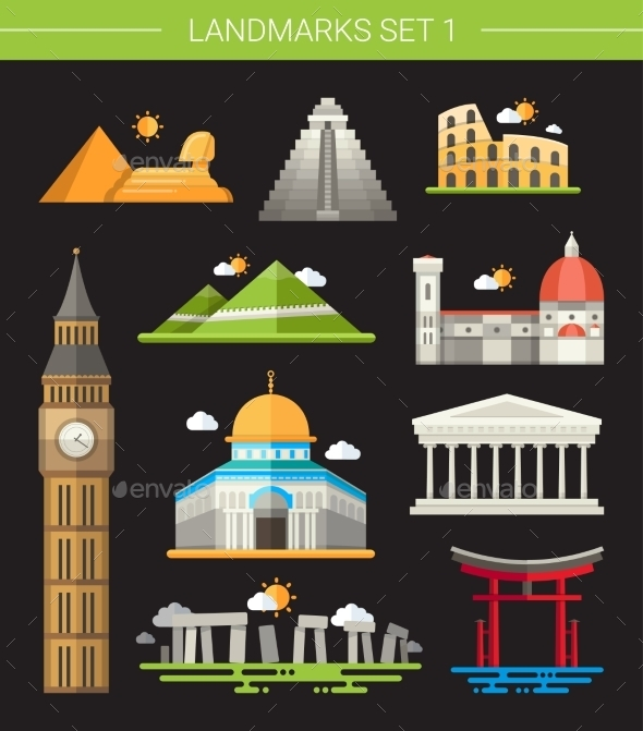 GraphicRiver Landmarks 10893691