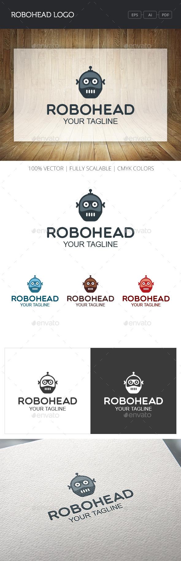 GraphicRiver Robohead Logo 10870246