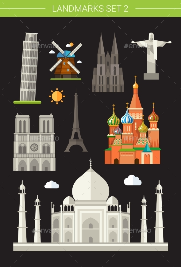 GraphicRiver Landmarks 10893961