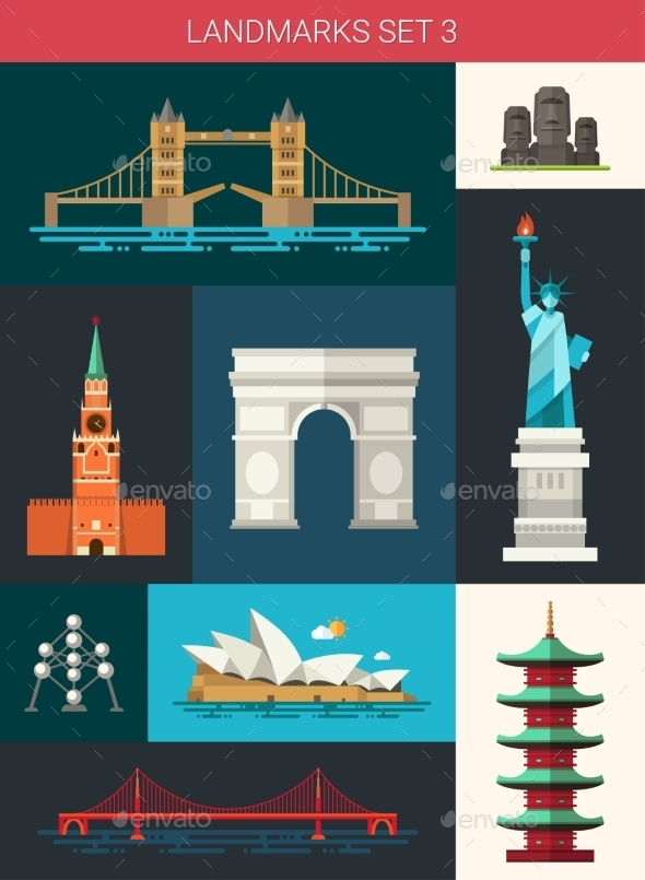 GraphicRiver Landmarks 10894001