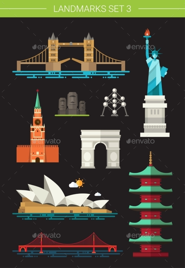 GraphicRiver Landmarks 10894043