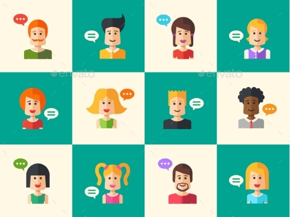 GraphicRiver People Avatars 10894117