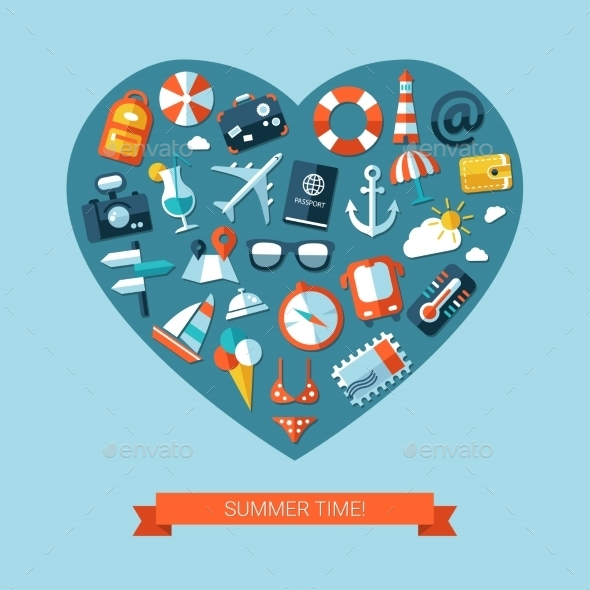 GraphicRiver Travel Heart 10894180