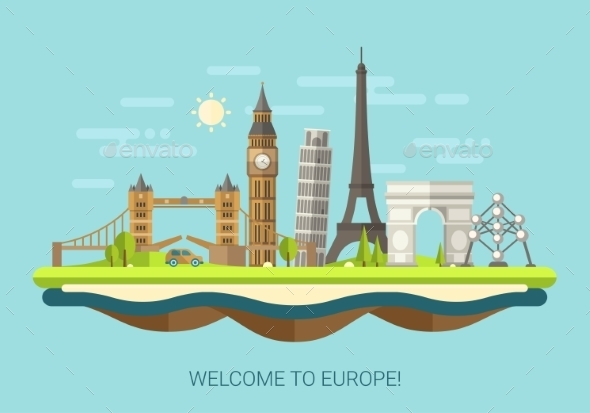 GraphicRiver Welcome to Europe Concept 10894230