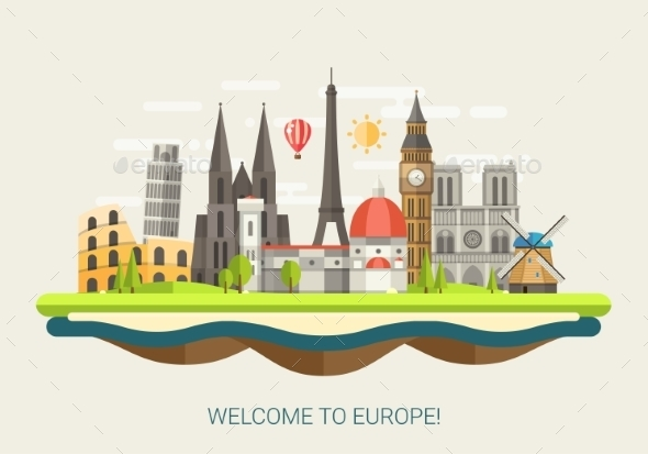 GraphicRiver Welcome to Europe Concept 10894288