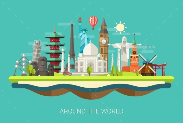 GraphicRiver Around the World Concept 10894317