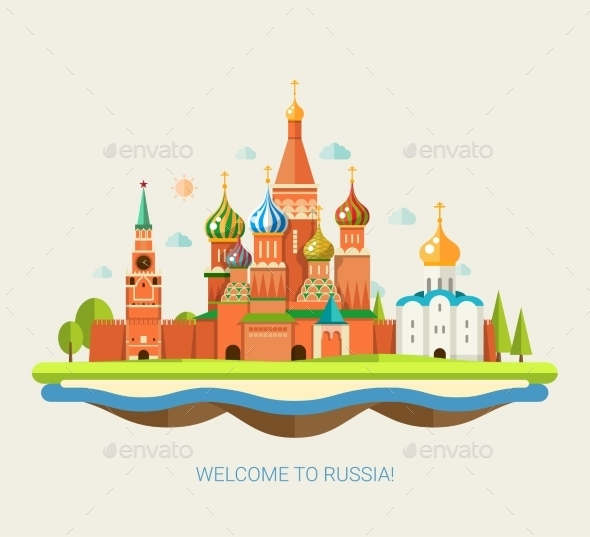GraphicRiver Travel Concept to Russia 10894323