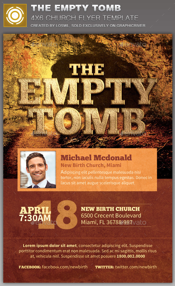 GraphicRiver The Empty Tomb Church Flyer Template 10894668