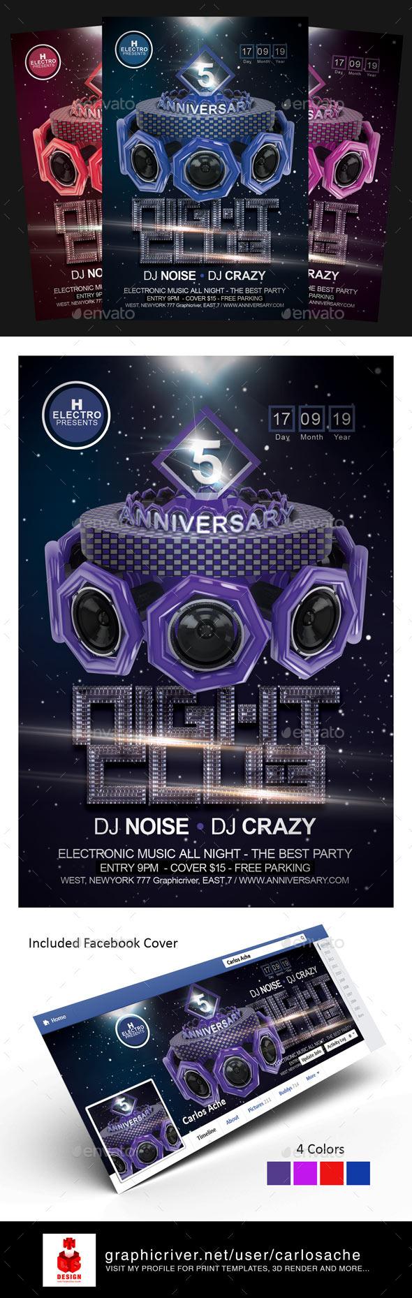 GraphicRiver Anniversary Flyer Template 10803411