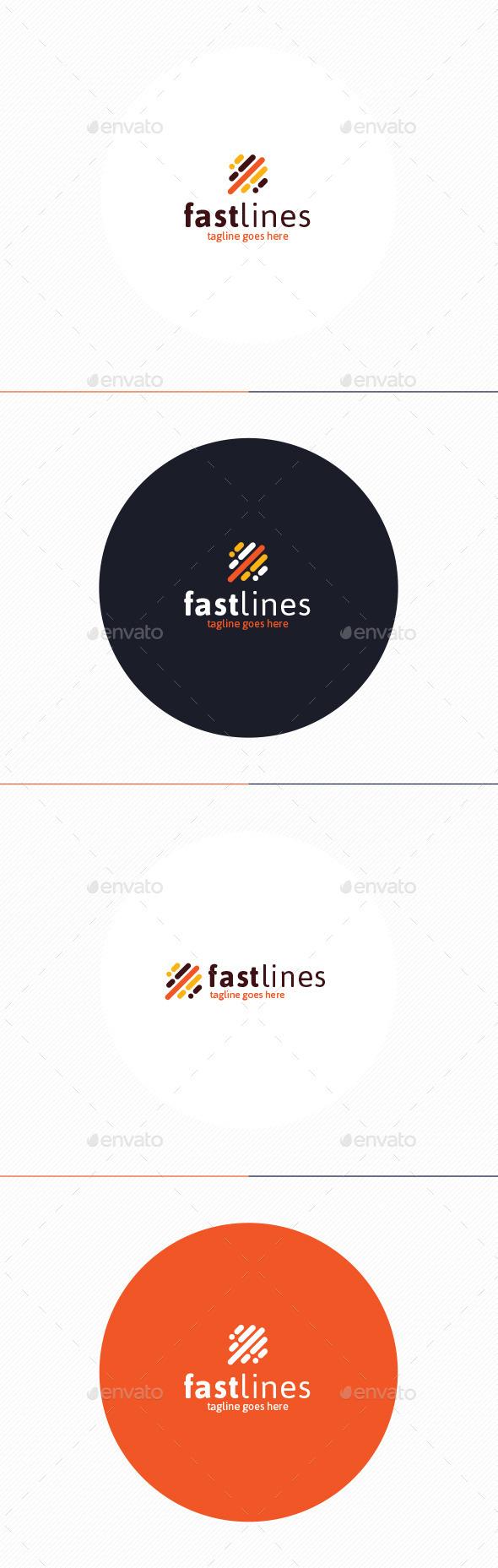 GraphicRiver Fast Lines Logo 10894880