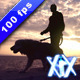 Man With Dog At Sunset - VideoHive Item for Sale