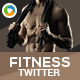 Fitness Twitter Header - GraphicRiver Item for Sale
