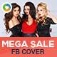 Mega Sale Facebook Cover - GraphicRiver Item for Sale