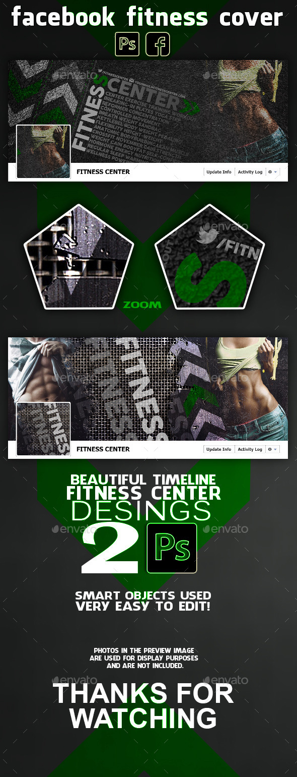 GraphicRiver Fitness Center Facebook Cover 10895620