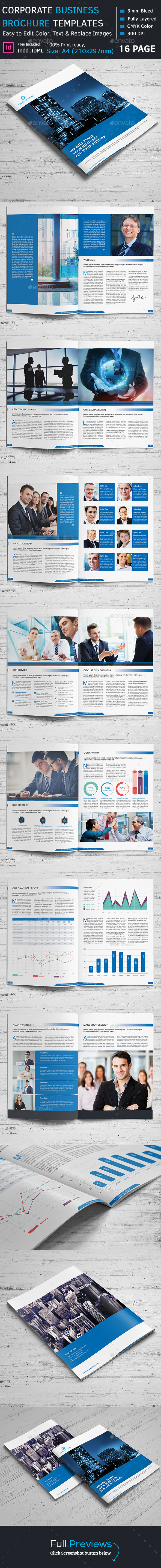 GraphicRiver Corporate Business Brochure Template 10895725