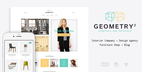 ThemeForest Geometry Interior Design & Furniture WordPress Theme 10895776