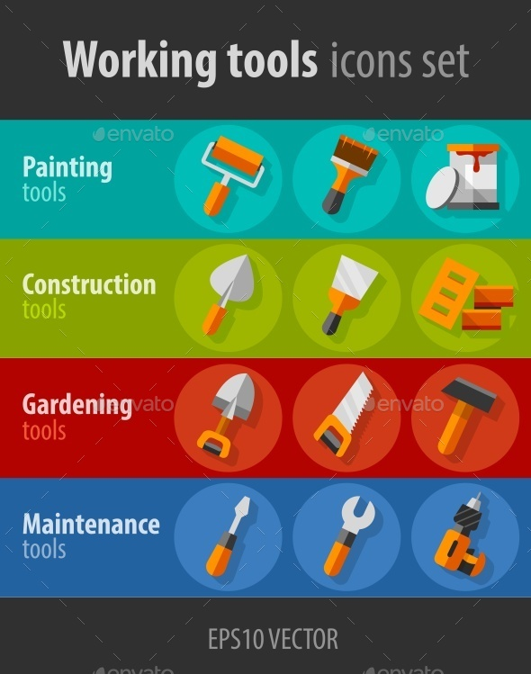 GraphicRiver Working Tools For Construction and Maintenance 10895794