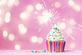 Pink cupcake with sparkler - PhotoDune Item for Sale