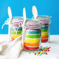 Rainbow cake in a jar - PhotoDune Item for Sale