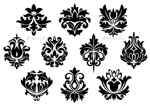 GraphicRiver Floral Symbols 10896656
