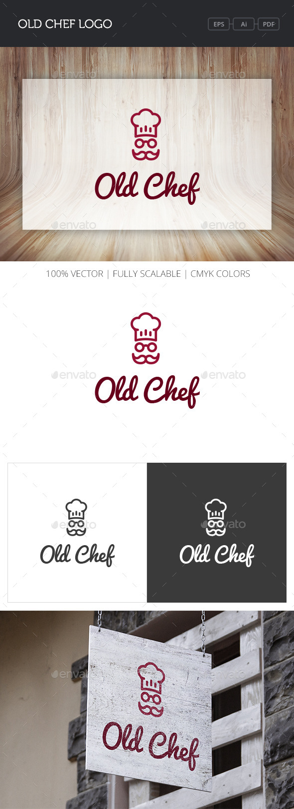 GraphicRiver Old Chef Logo 10896802