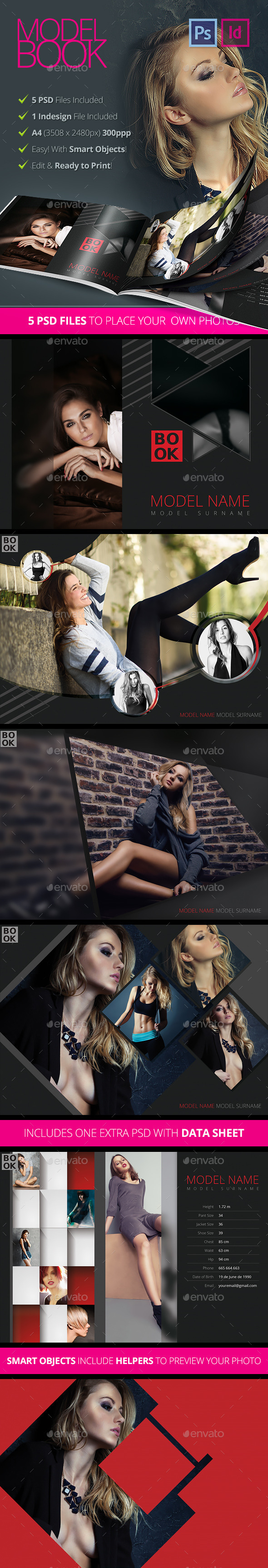 GraphicRiver Model Book Design Brochure 10686621