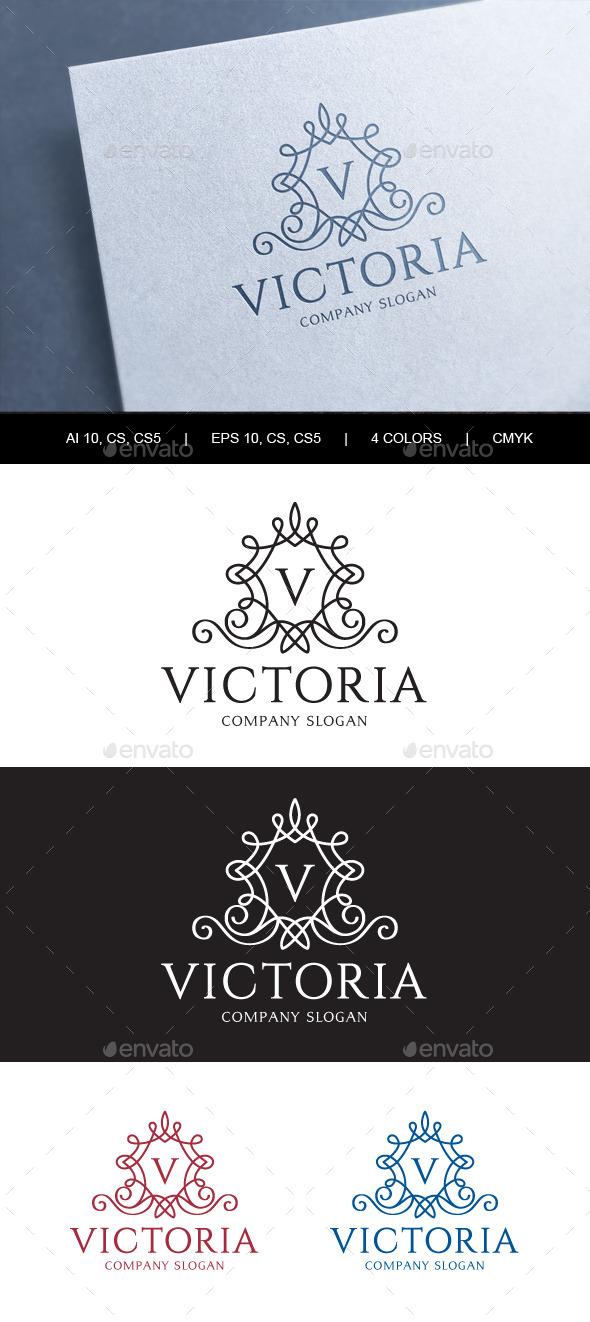 GraphicRiver Victoria Crest Logo 10898812