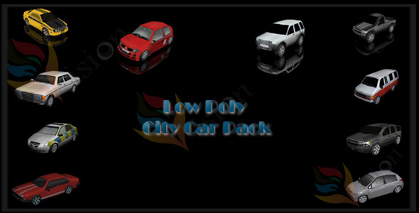 3DOcean City Car Pack 10898835