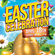 Happy Easter Flyer Print Template & Facebook Cover - GraphicRiver Item for Sale