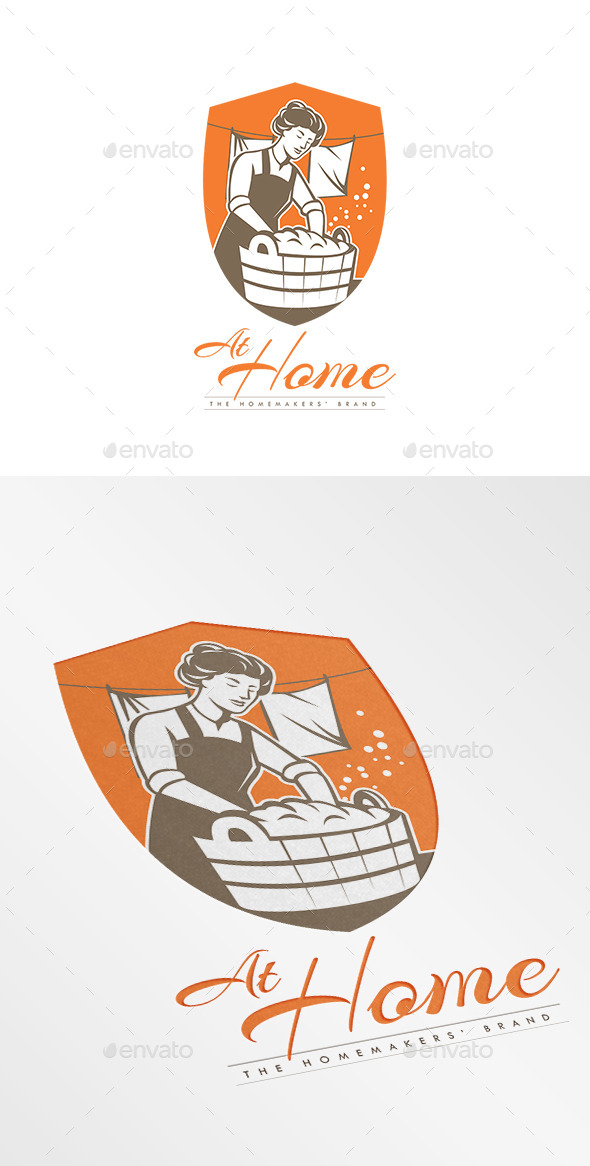 GraphicRiver At Home Laundry Logo 10898868