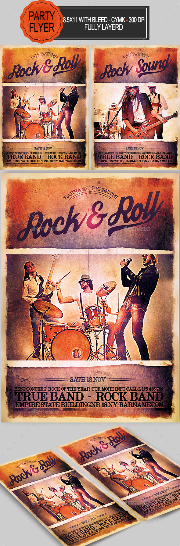 GraphicRiver Rock Flyer 10898941