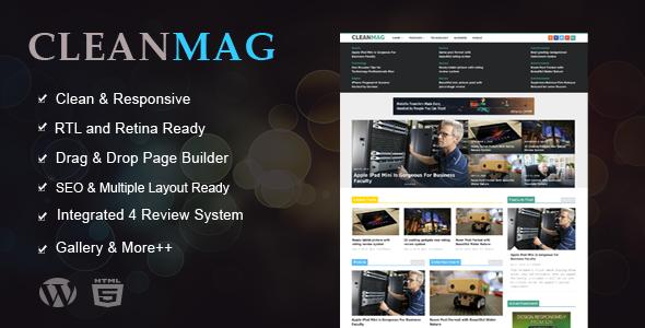 CleanMag - Responsive News, Magazine, Blog Theme