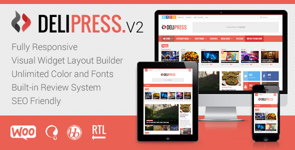Delipress - Magazine and Review WordPress Theme - News / Editorial Blog / Magazine