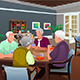 Elderly People Playing Cards  - GraphicRiver Item for Sale