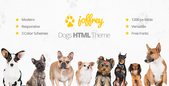 ThemeForest Joffrey An HTML Template for Dog Lovers 10782002